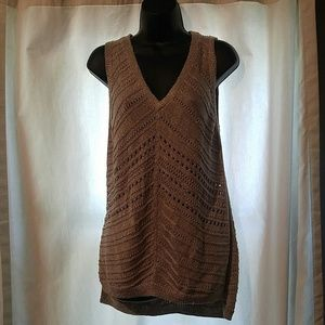 Gold lurex sleeveless sweater